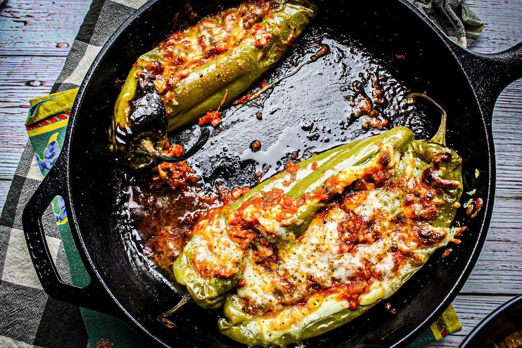 Stuffed Anaheim peppers.