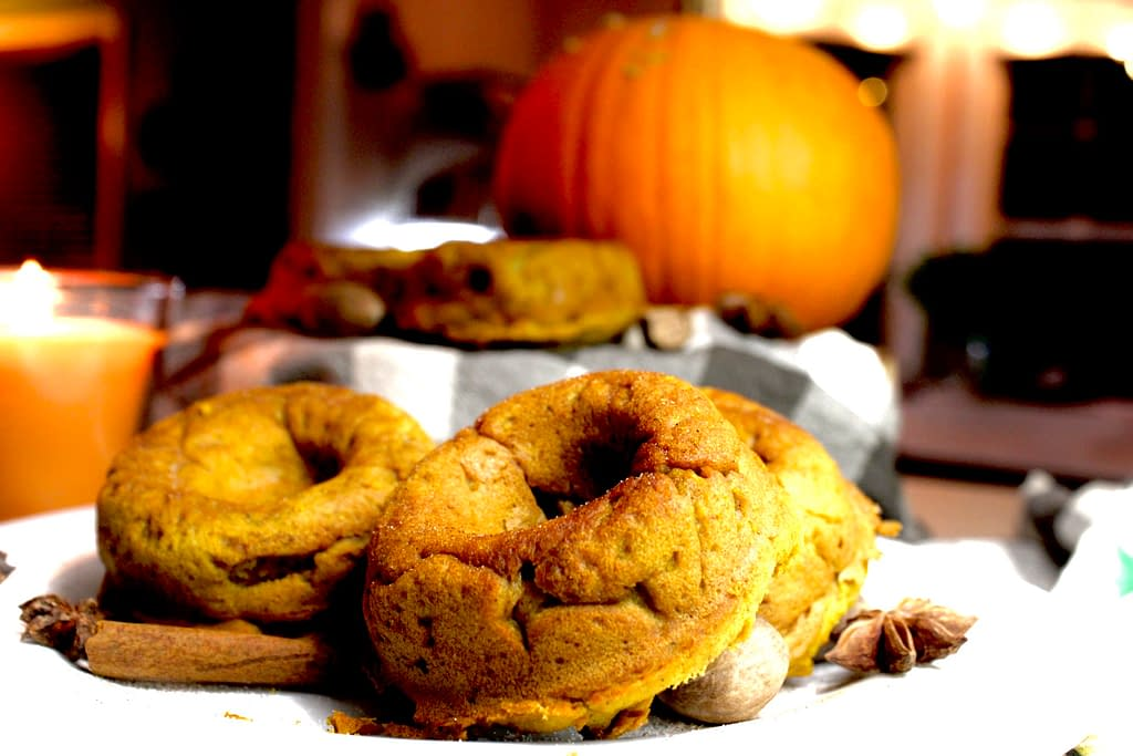 Doughnuts with pumpkin.
