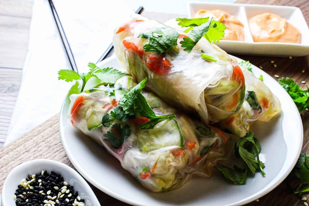 The best vegan spring rolls.