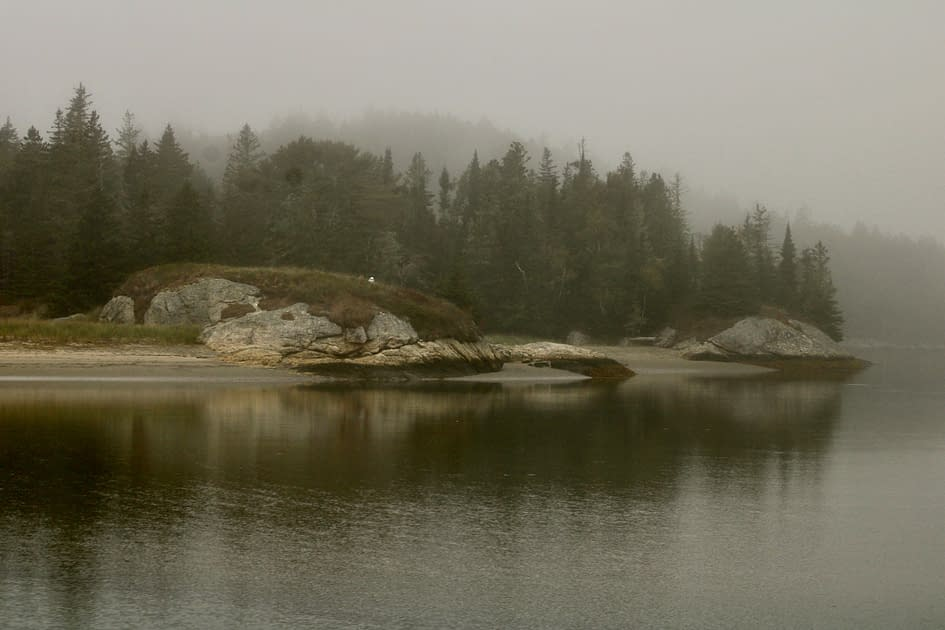Granite formations while Maine hiking.