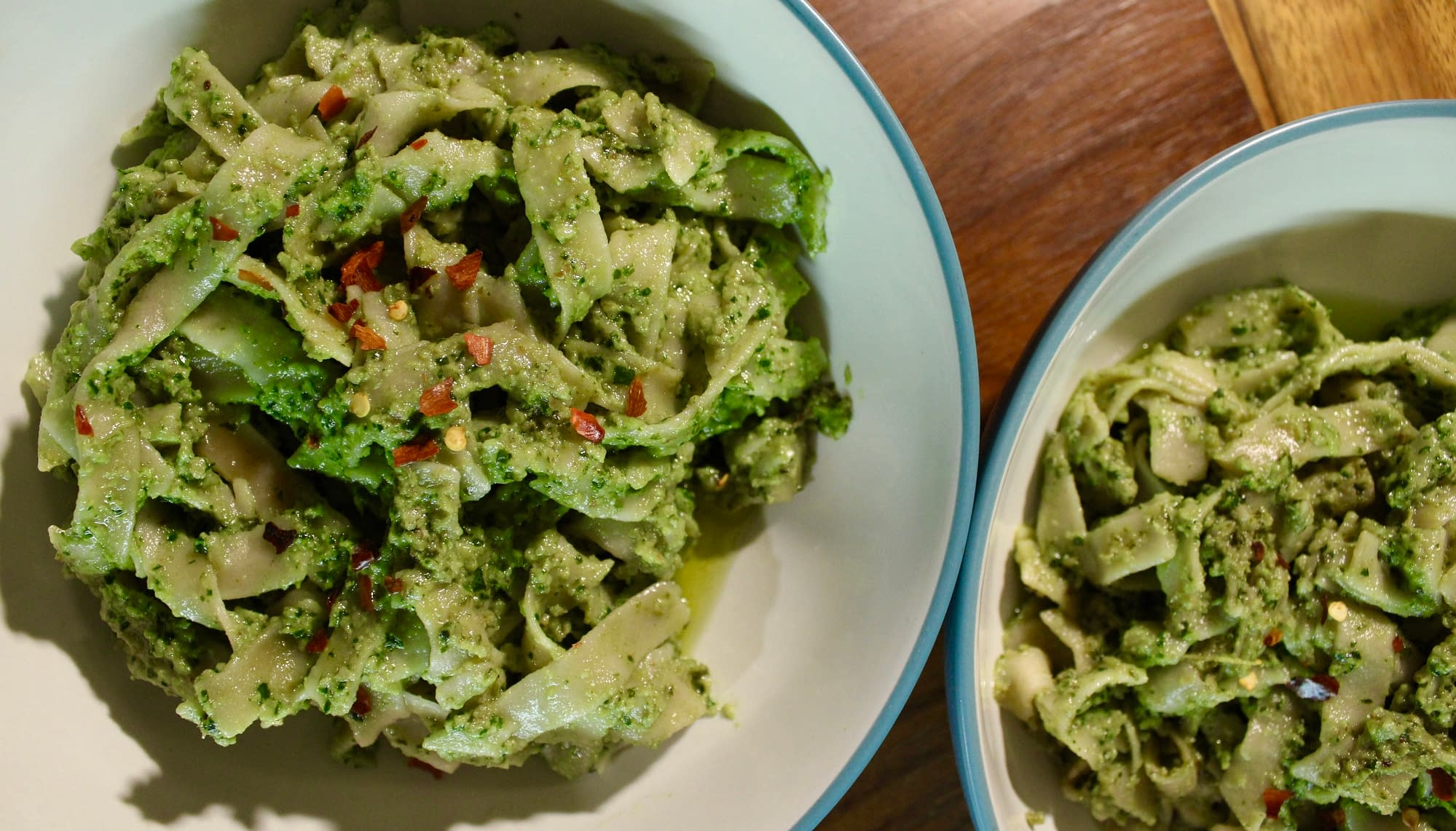 Fresh Kale and Walnut Pesto