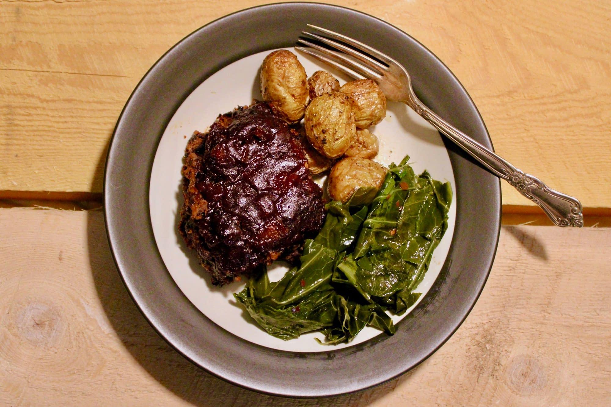 Tender vegan meatloaf from Savor + Harvest (with Karl)