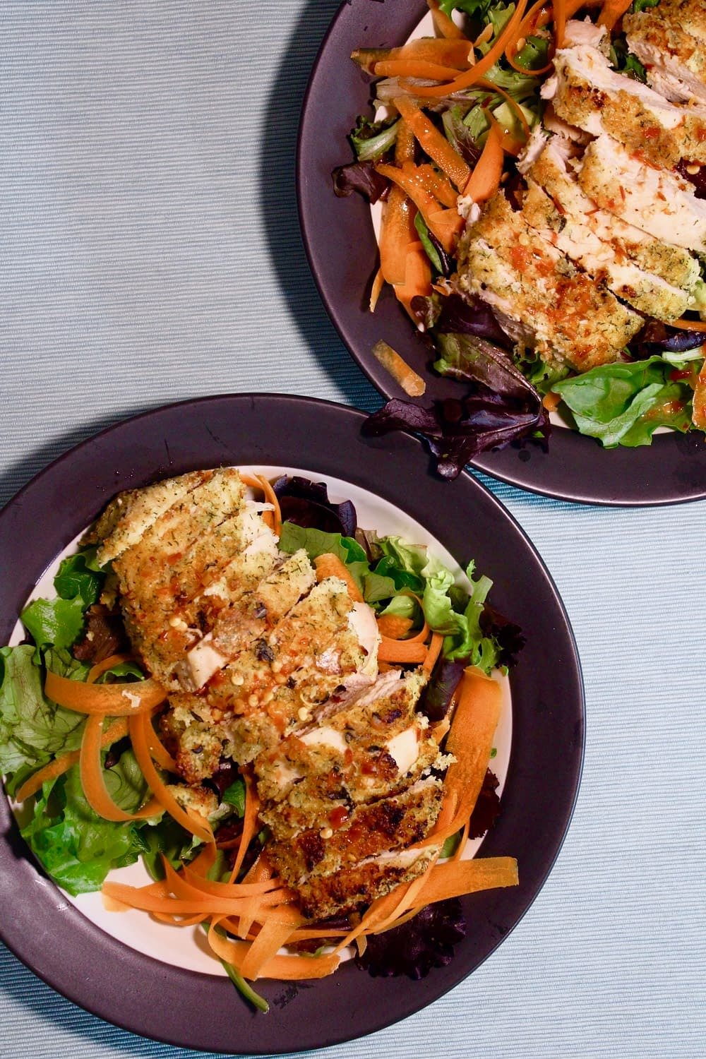 Crispy Chicken Salad with Sweet Chili Drizzle