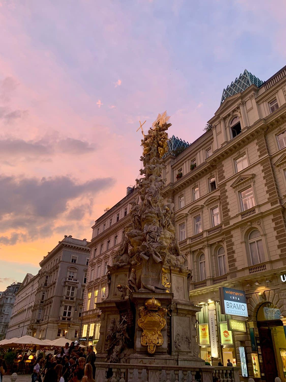 Vienna at sunset.